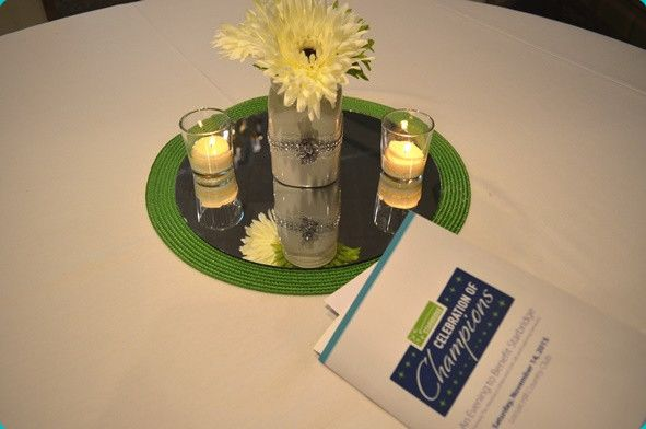 Table centerpiece at 2015 Celebration of Champions